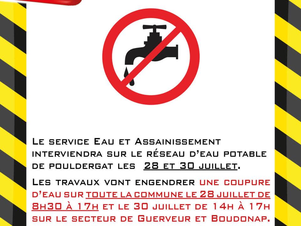 Coupure eau Pouldergat V3